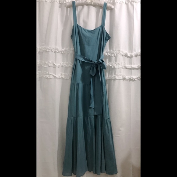 Anthropologie Dresses & Skirts - Anthropologie Maeve Turquoise Maxi Dress (FIRM)
